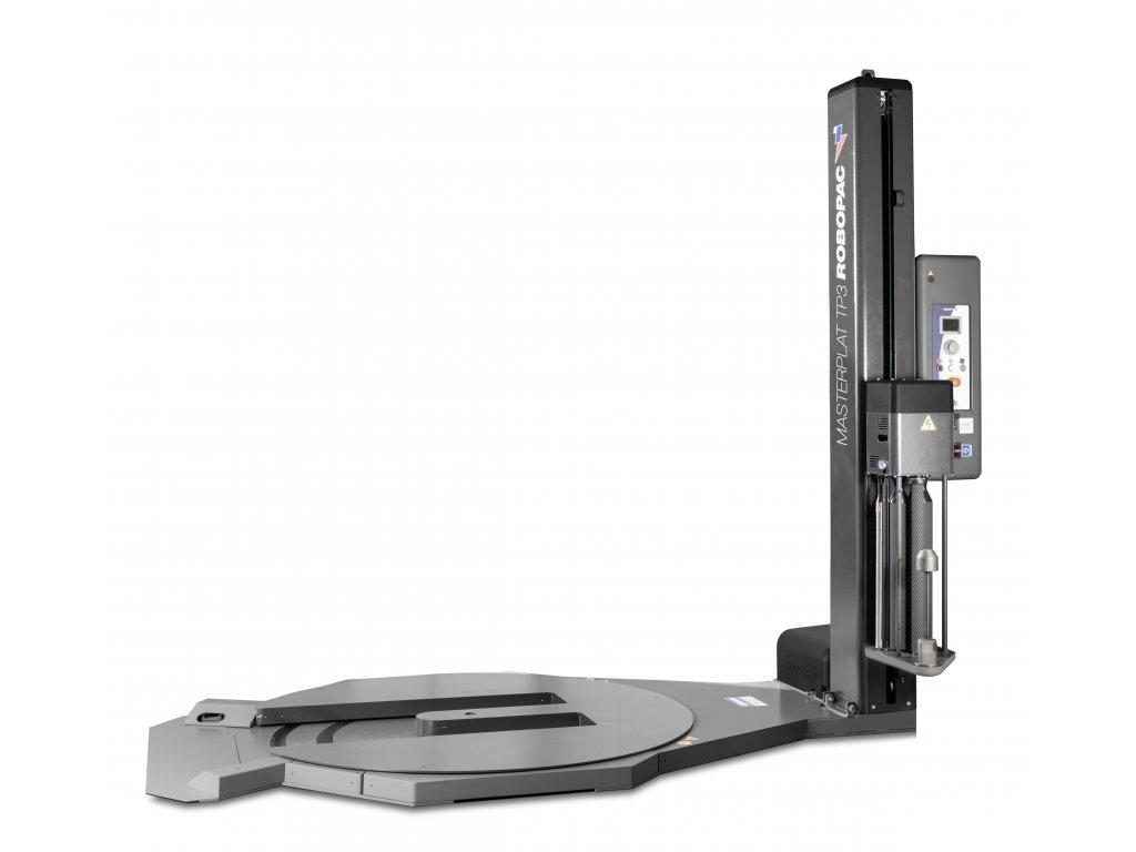 Nerezový ovinovací stroj s výřezem MASTERPLAT PLUS INOX TP3 (Ovinovací stroj MASTERPLAT PLUS INOX TP3 PGS - s fixním předepínáním fólie 250% a ovládáním napínání z ovládacího panelu)