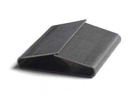 Ocelové spony uzavřené - šíře 32 mm (Spony 208500 - ocelová, uzavřená, š.d.tl. 33.6x57x0.8 mm, 250 ks/balení)