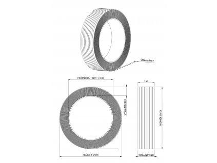 1503 1 odvijec vazaci pasky h84 dutinka 200 a 406 mm