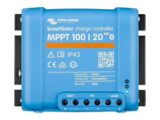 MPPT SMART solárny regulátor Victron Energy 100 20 pre 48V batérie z vrchu