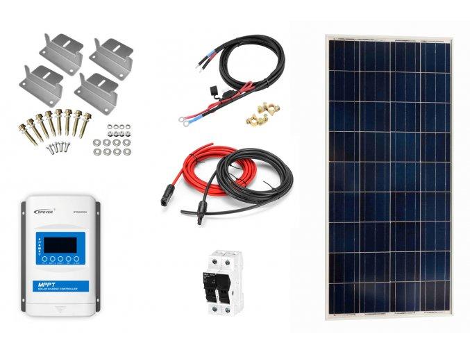 Ostrovný solárny systém na chatu 175Wp s MPPT regulátorom bez batérie