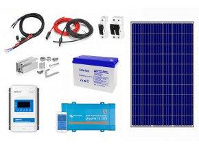 Kompletný solárny systém na chatu s batériou a 300W meničom