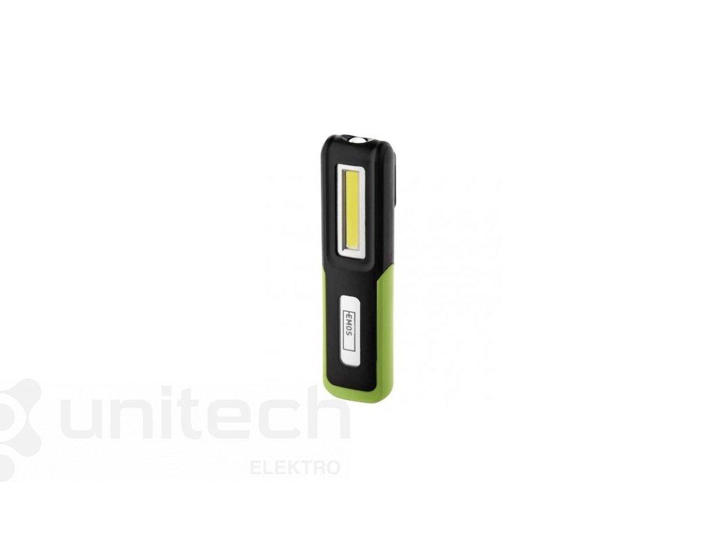 CREE LED + COB LED nabíj. svietidlo P4530, 175 lm, 1200 mAh