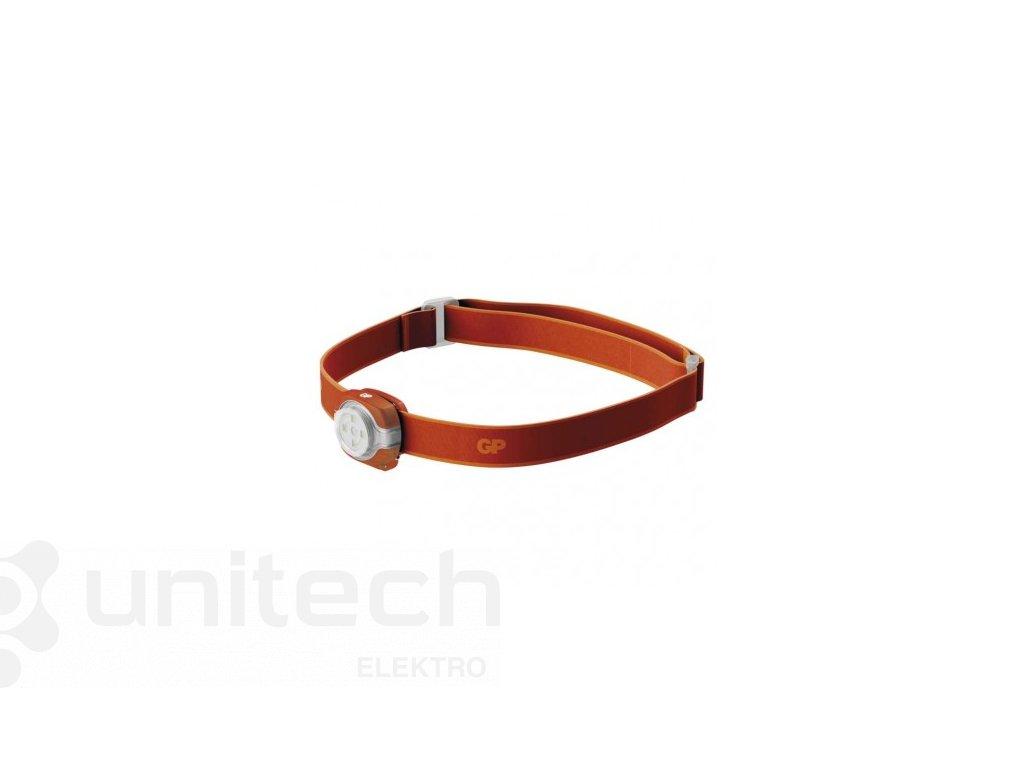 LED čelovka GP CH31, 40 lm, 8m, 2× CR2025, oranžová