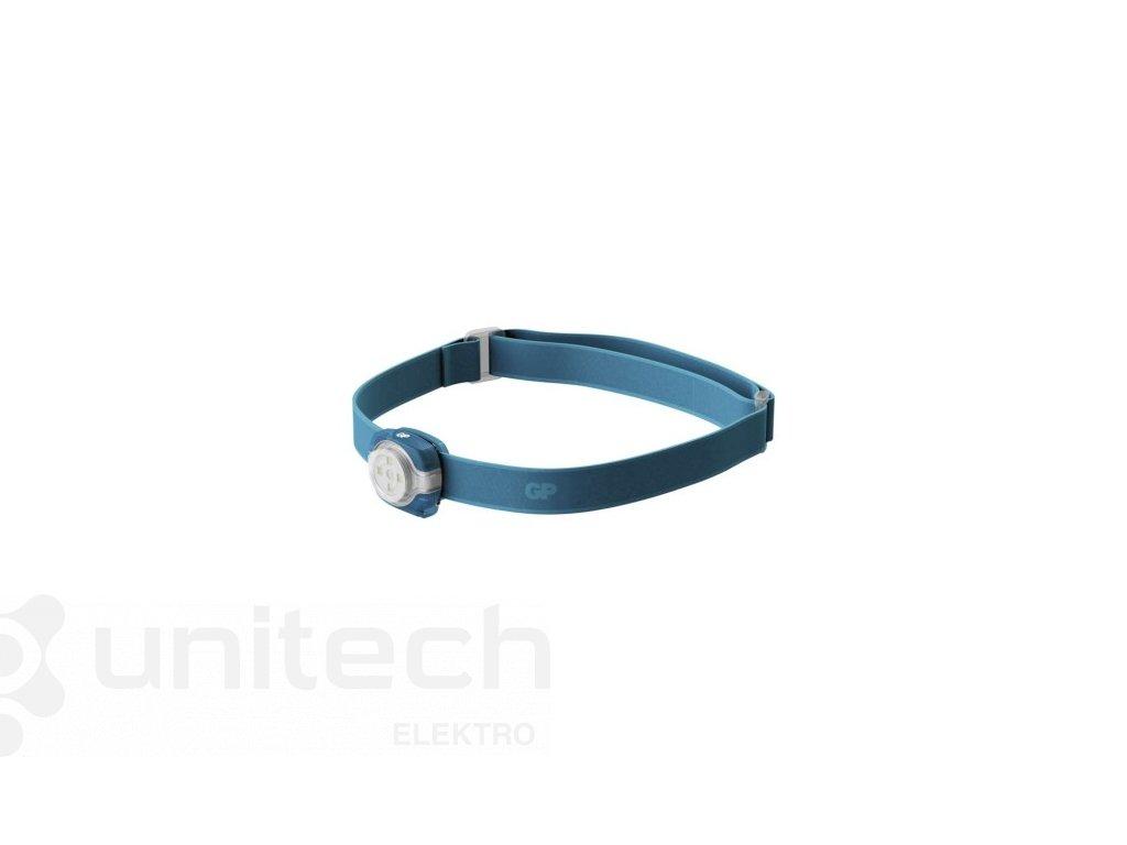 LED čelovka GP CH31, 40 lm, 8m, 2× CR2025, modrá