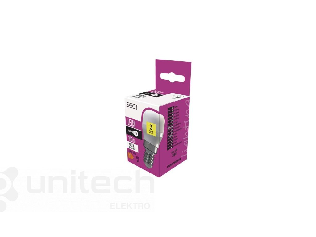 Žiarovka do chladničiek 1,6W E14 neutrálna biela