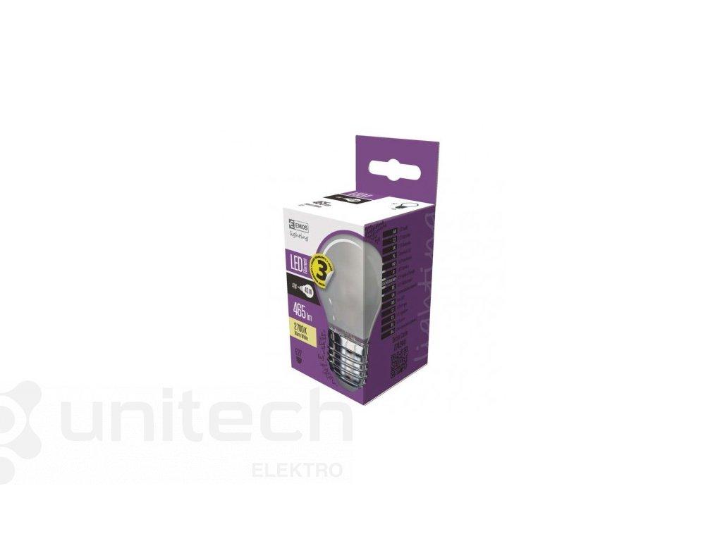 LED žiarovka Filament Mini Globe A++ matná 4W E27 teplá b.