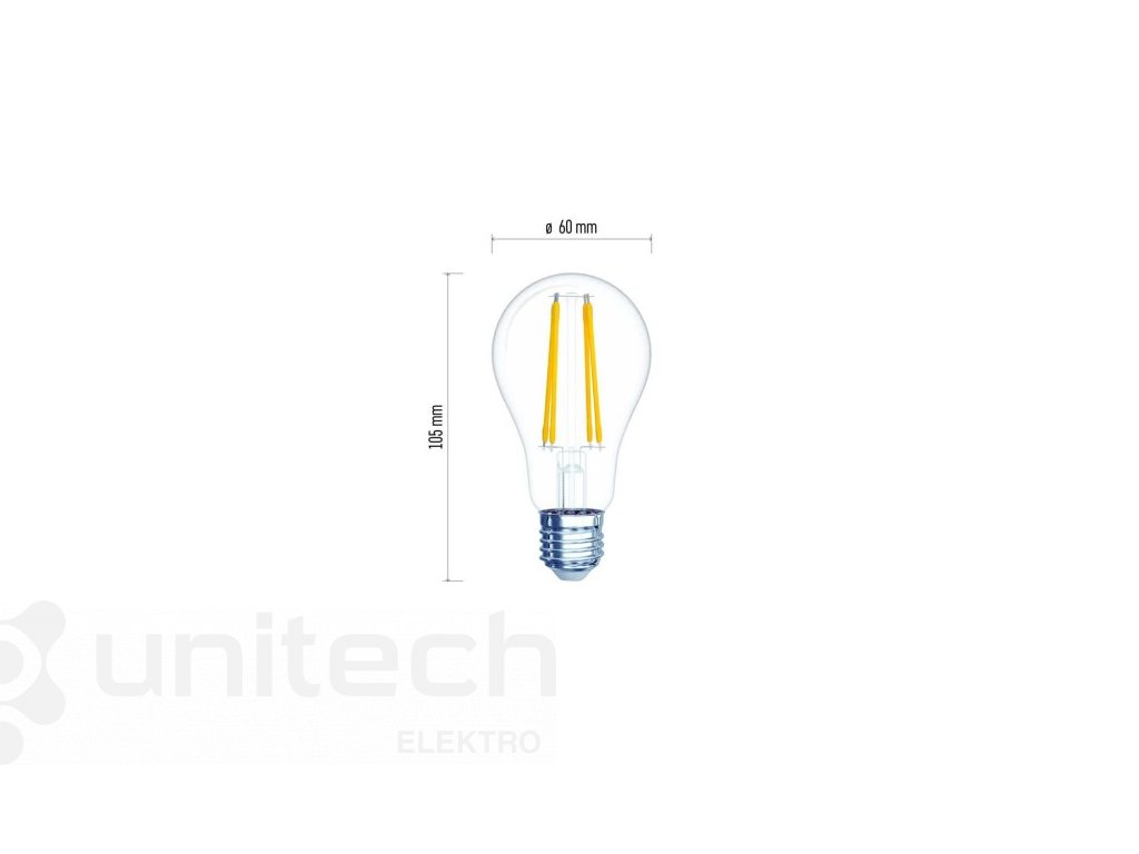 LED žiarovka Filament A60 A++ 6W E27 neutrálna biela