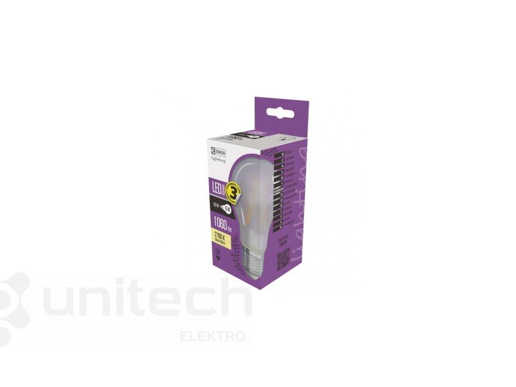 LED žiarovka Filament matná A60 A++ 8,5W E27 teplá biela