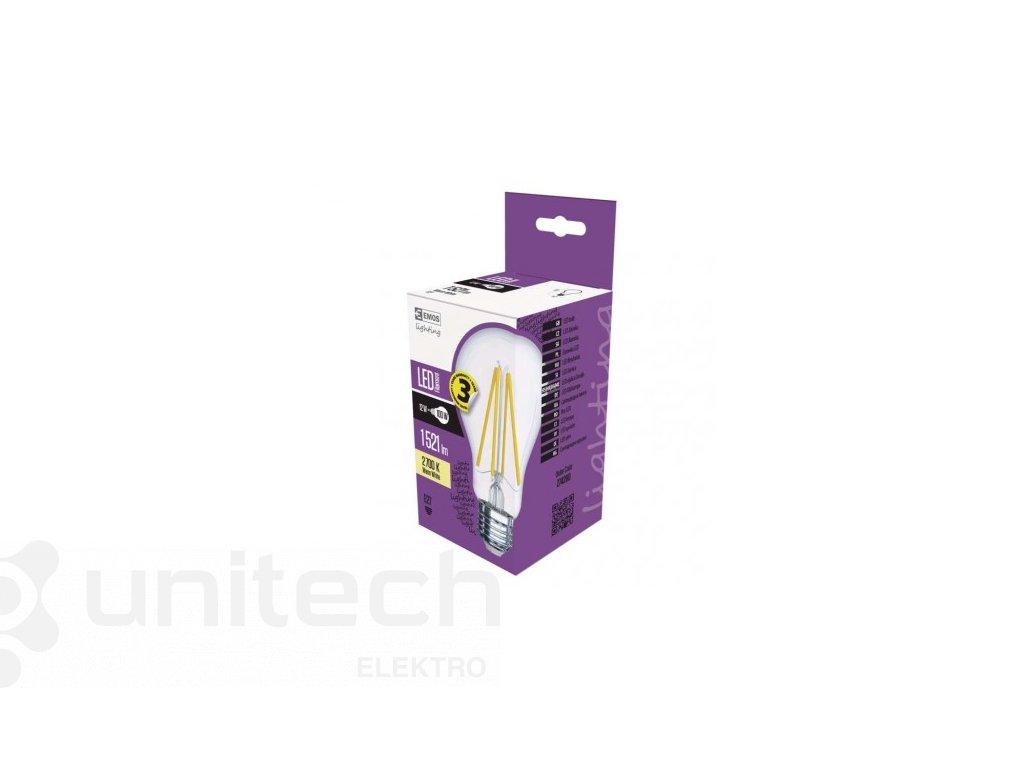 LED žiarovka Filament A70 A++ 12W E27 teplá biela