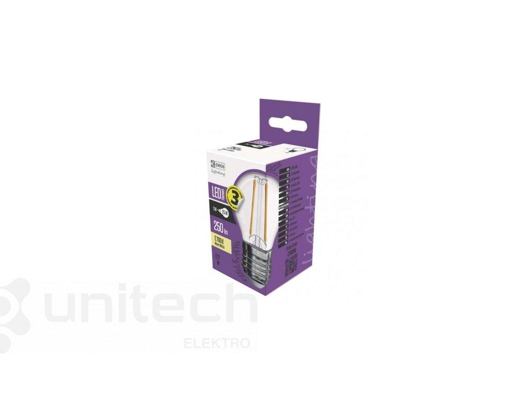 LED žiarovka Filament Mini Globe 2W E27 teplá biela