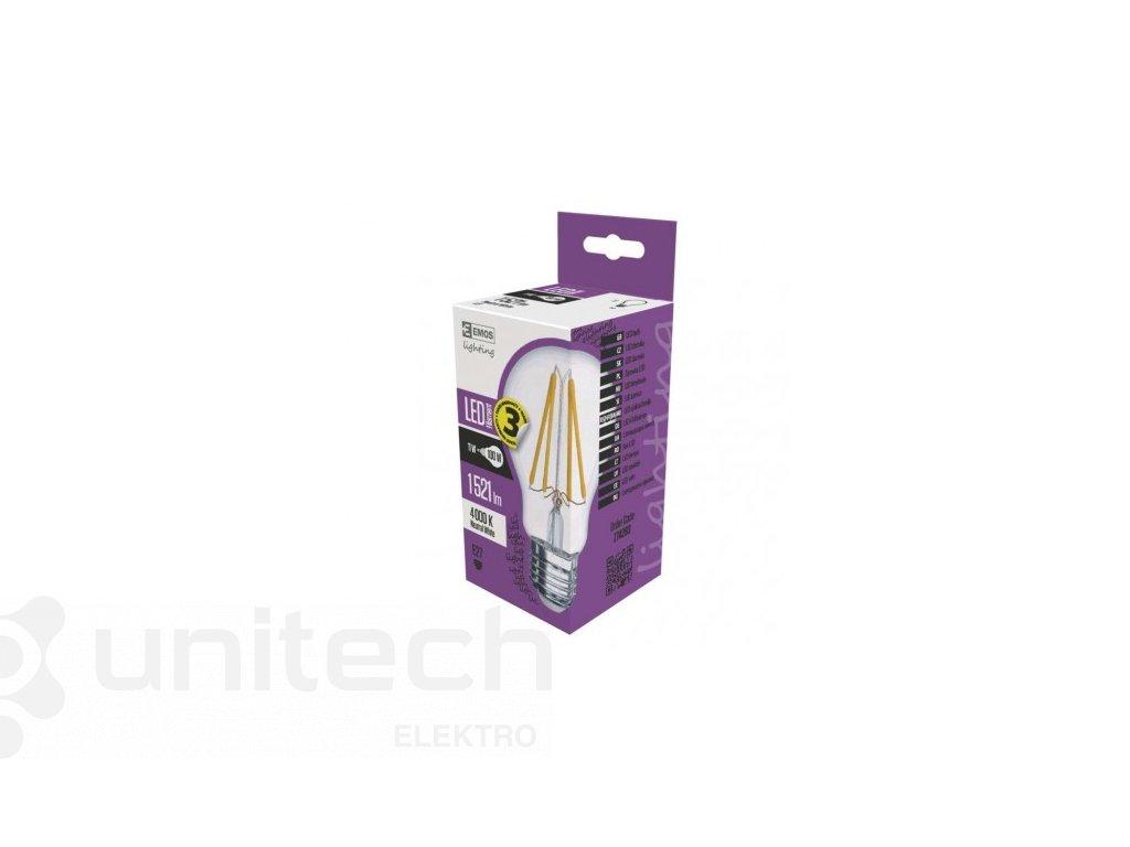LED žiarovka Filament A60 A++ 11W E27 neutrálna biela