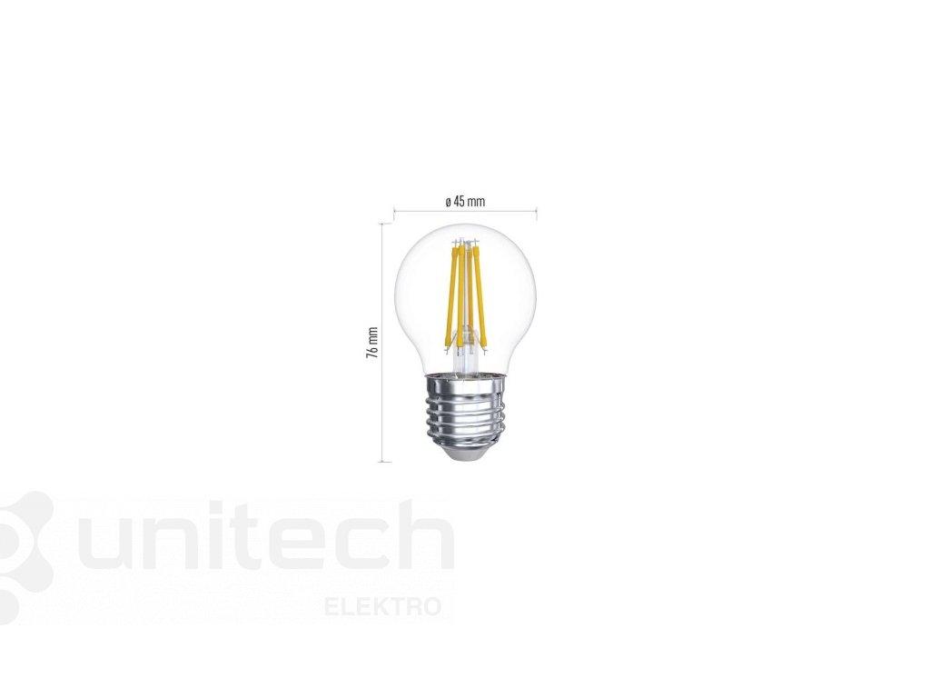 LED žiarovka Filament Mini Globe 6W E27 neutrálna biela