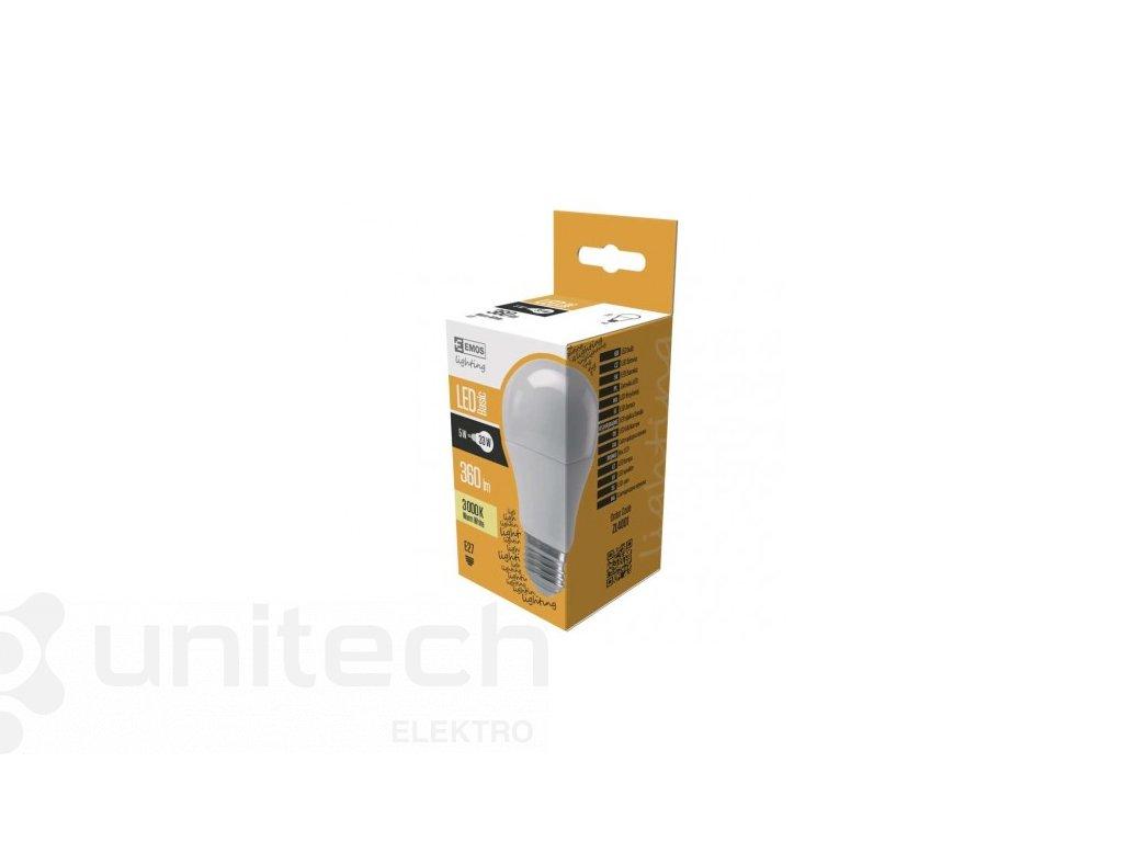 LED žiarovka Basic A60 5W E27 teplá biela