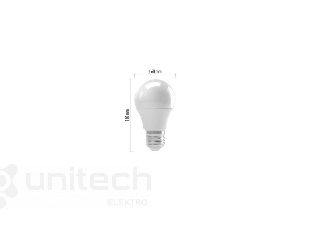 LED žiarovka Basic A60 8W E27 teplá biela