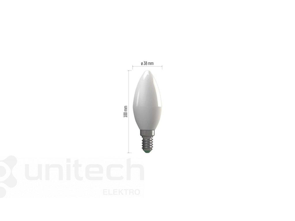 LED žiarovka Basic Candle 6W E14 teplá biela