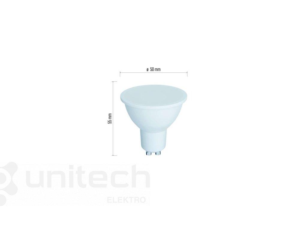 LED žiarovka Classic 6W GU10 teplá biela, stmievateľná