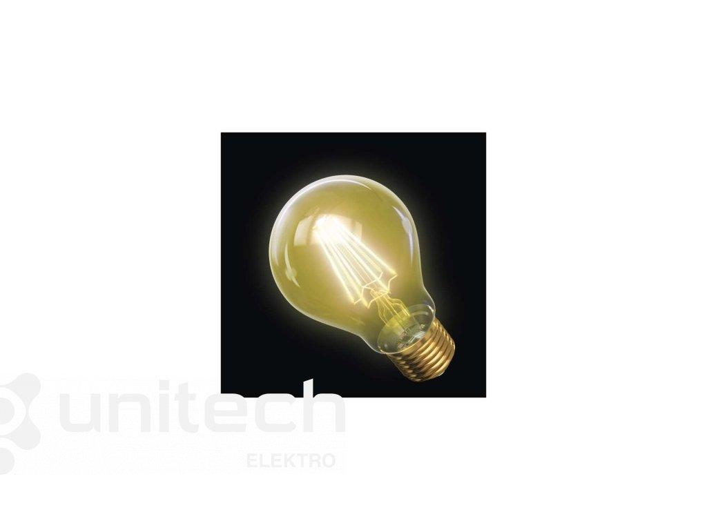 LED žiarovka Vintage A60 4W E27 teplá biela+