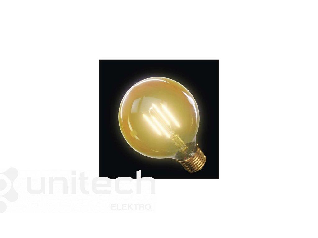 LED žiarovka Vintage G95 4W E27 teplá biela+