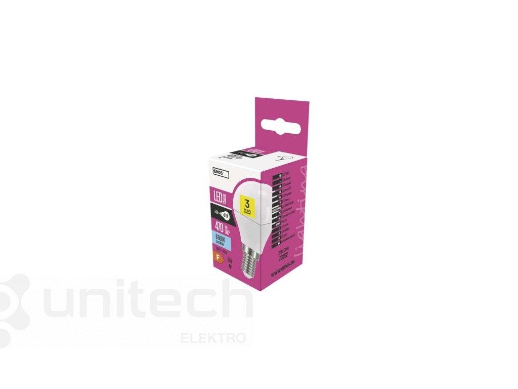 LED žiarovka Classic Mini Globe 6W E14 studená biela