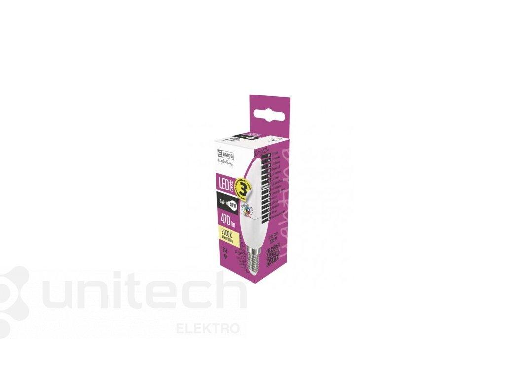 LED žiarovka Classic Candle 6W E14 teplá biela Ra96
