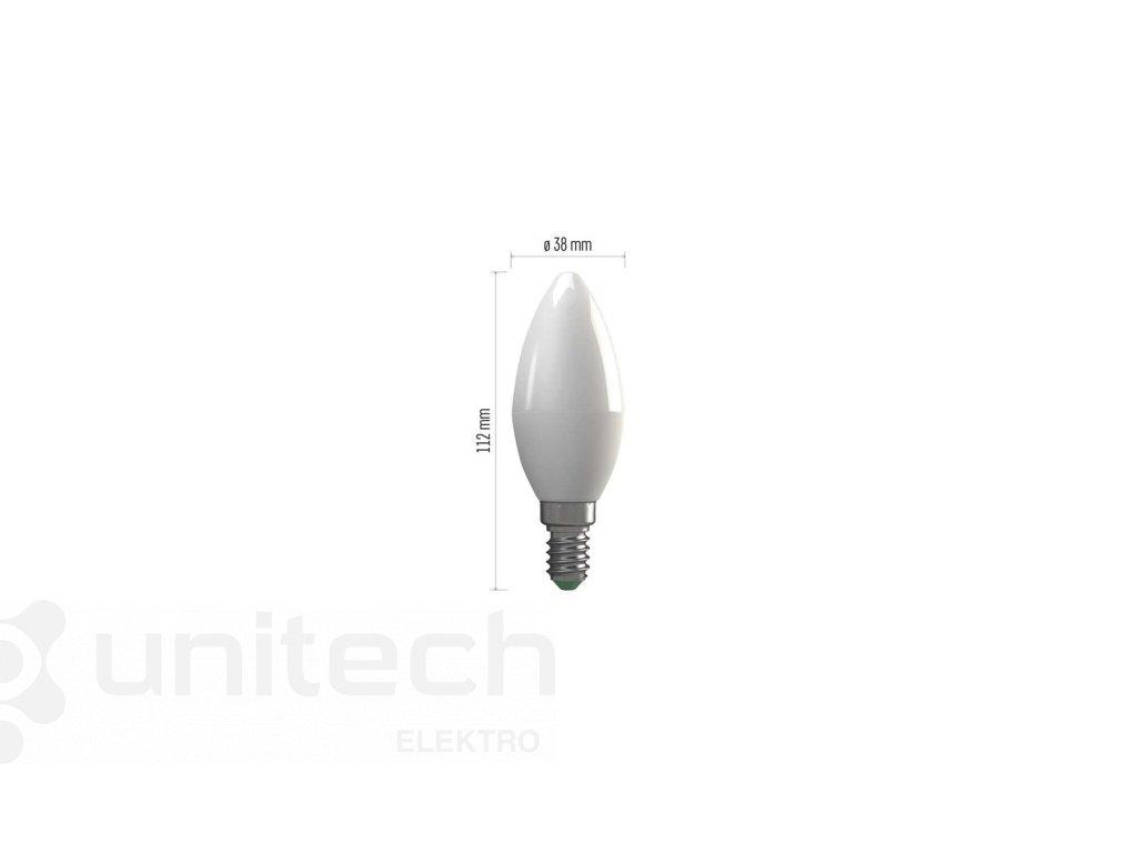 LED žiarovka Basic Candle 8W E14 teplá biela