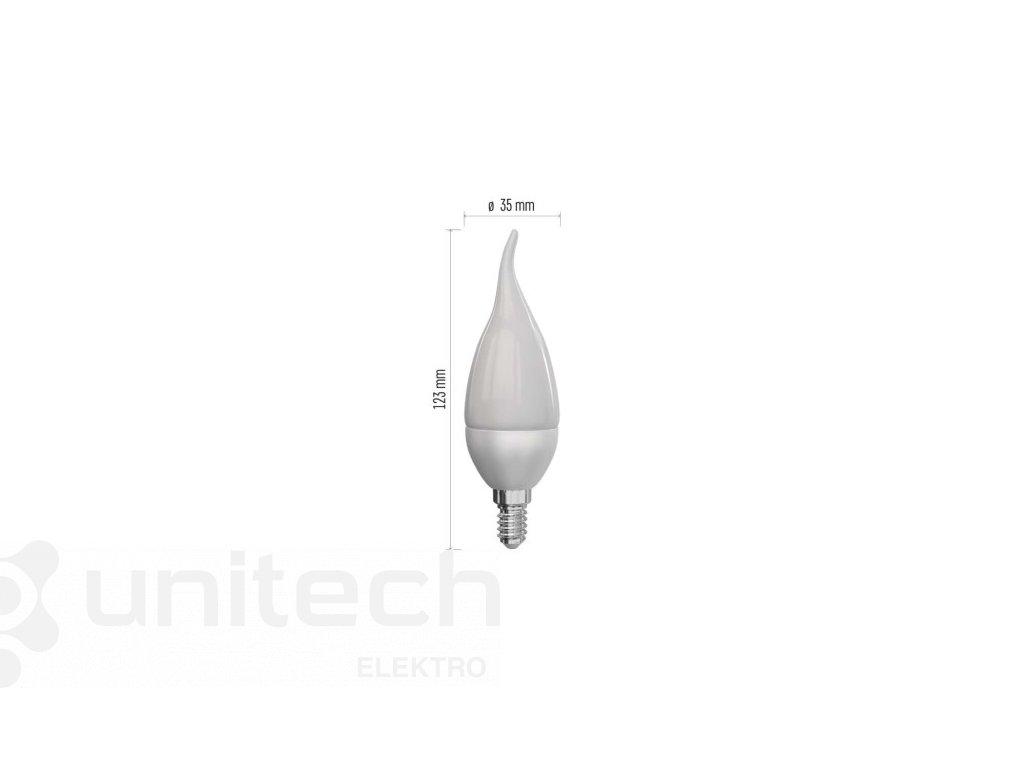 LED žiarovka Classic Candle Tail 6W E14 teplá biela