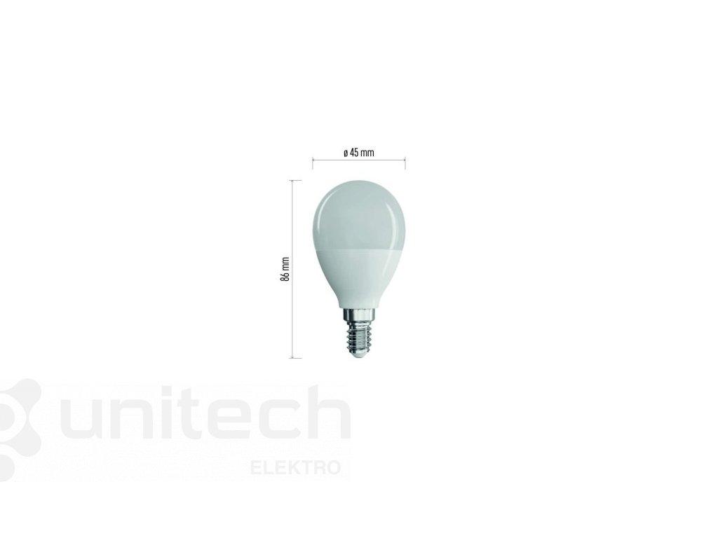 LED žiarovka Classic Mini Globe 8W E14 neutrálna biela
