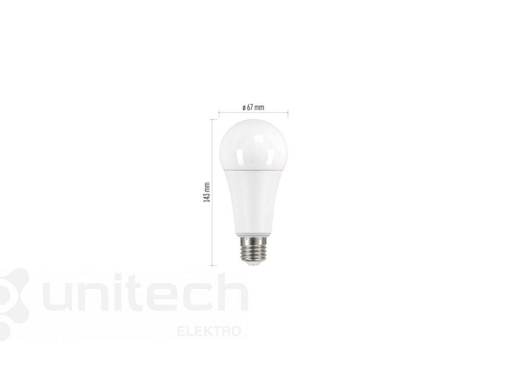 LED žiarovka Classic A67 18W E27 studená biela