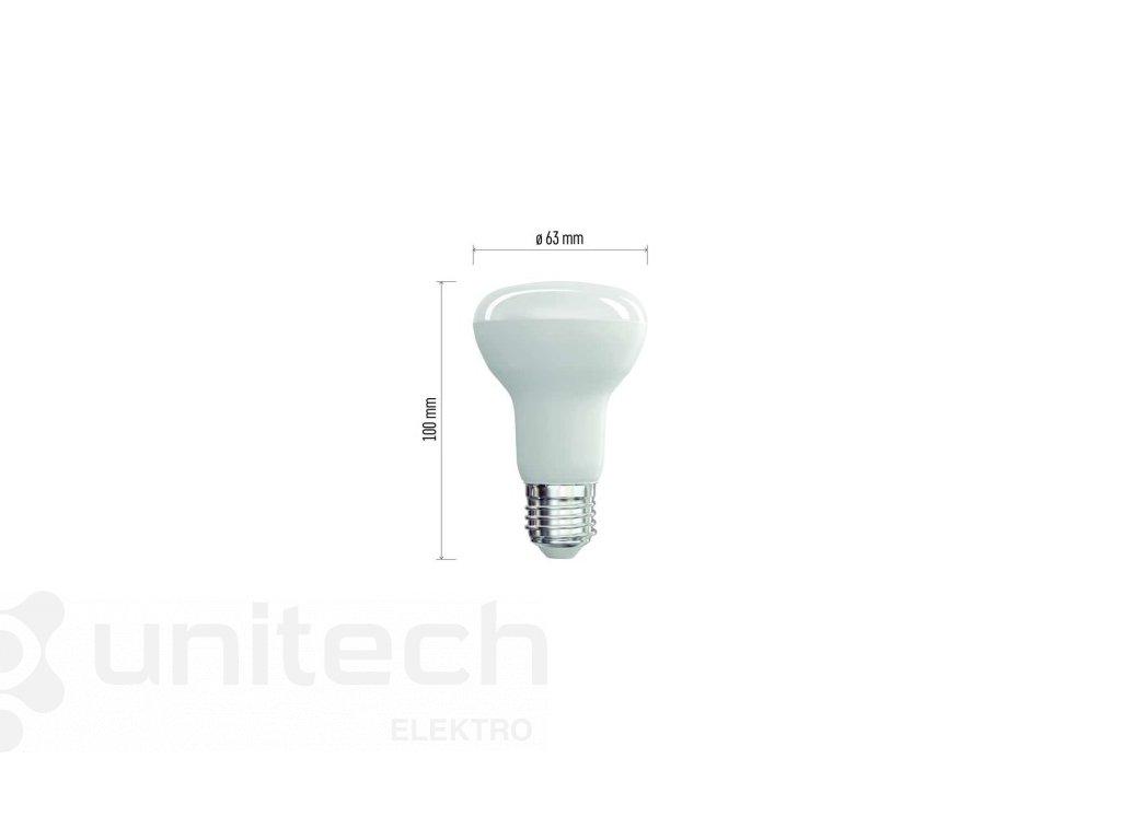 LED žiarovka Classic R63 10W E27 teplá biela