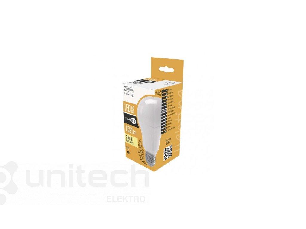 LED žiarovka Basic A70 14W E27 teplá biela