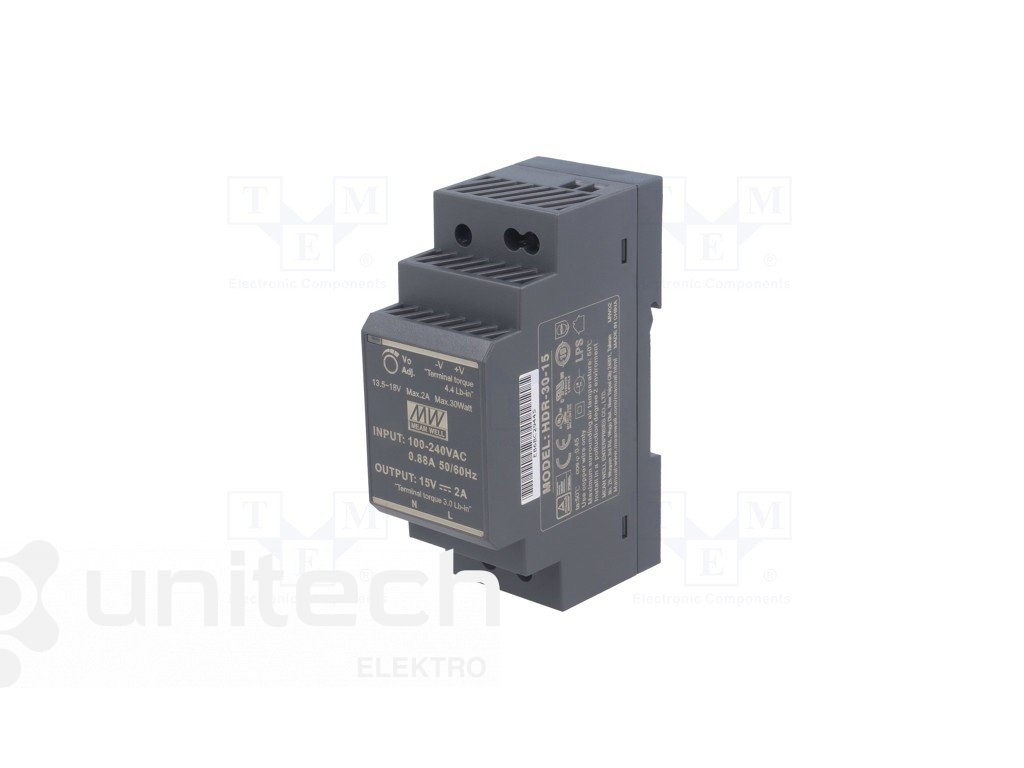Napájací zdroj ESPE-HDr3015 ESPE, 15VDC, 2A, 30W