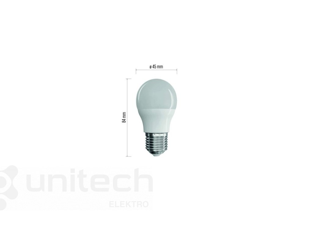 LED žiarovka Classic Mini Globe 8W E27 neutrálna biela
