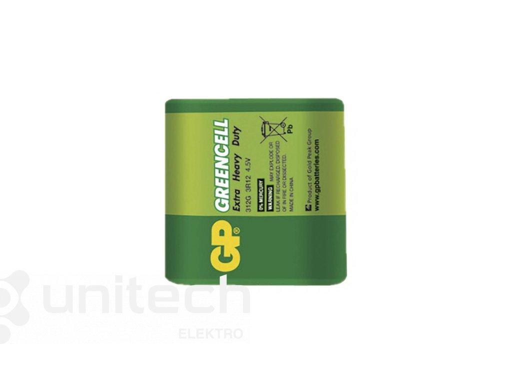 Zinko-chloridová batéria GP Greencell 3R12 (4,5V)
