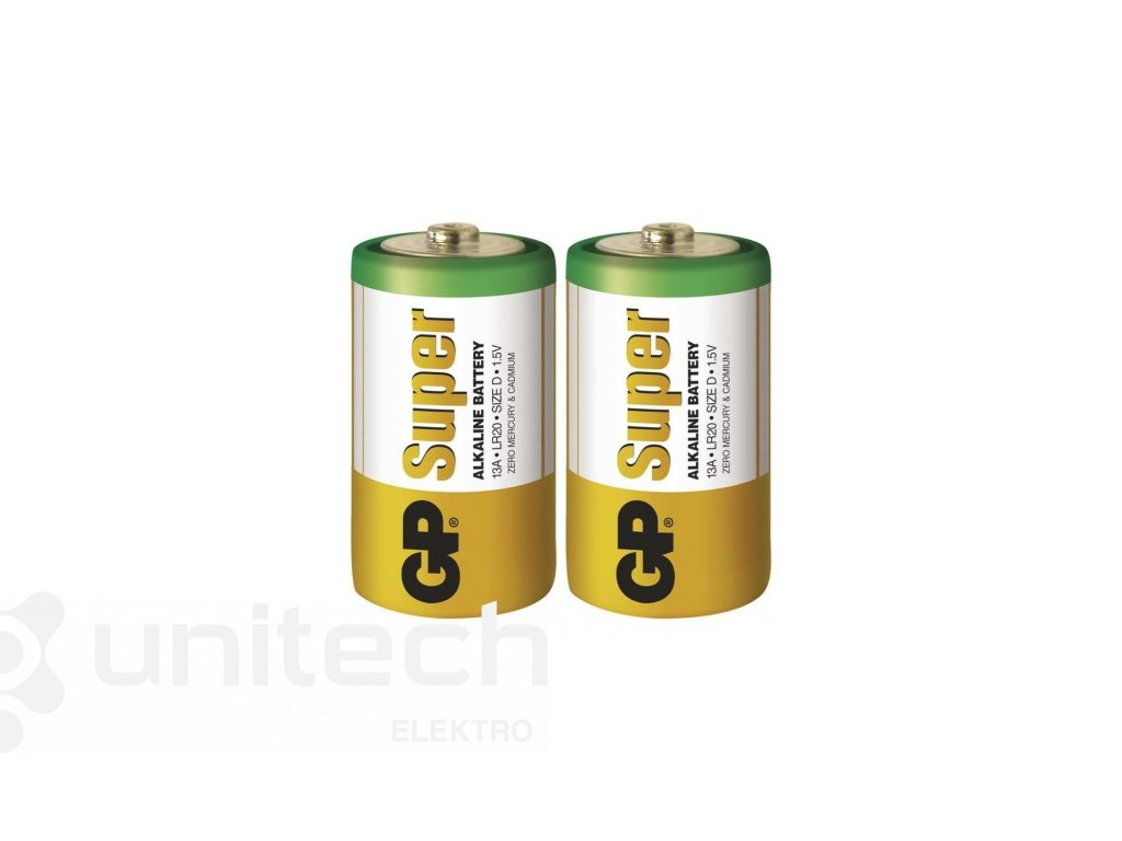 Alkalická batéria GP Super LR20 (D)