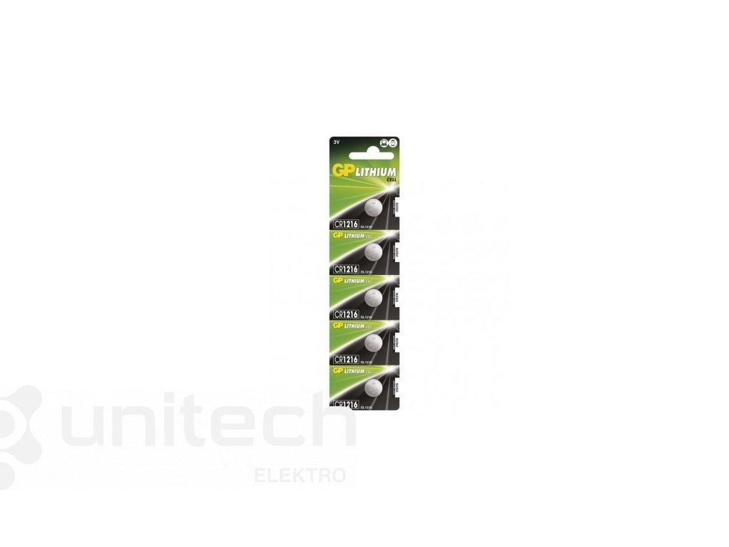 Lítiová gombíková batéria GP CR1216