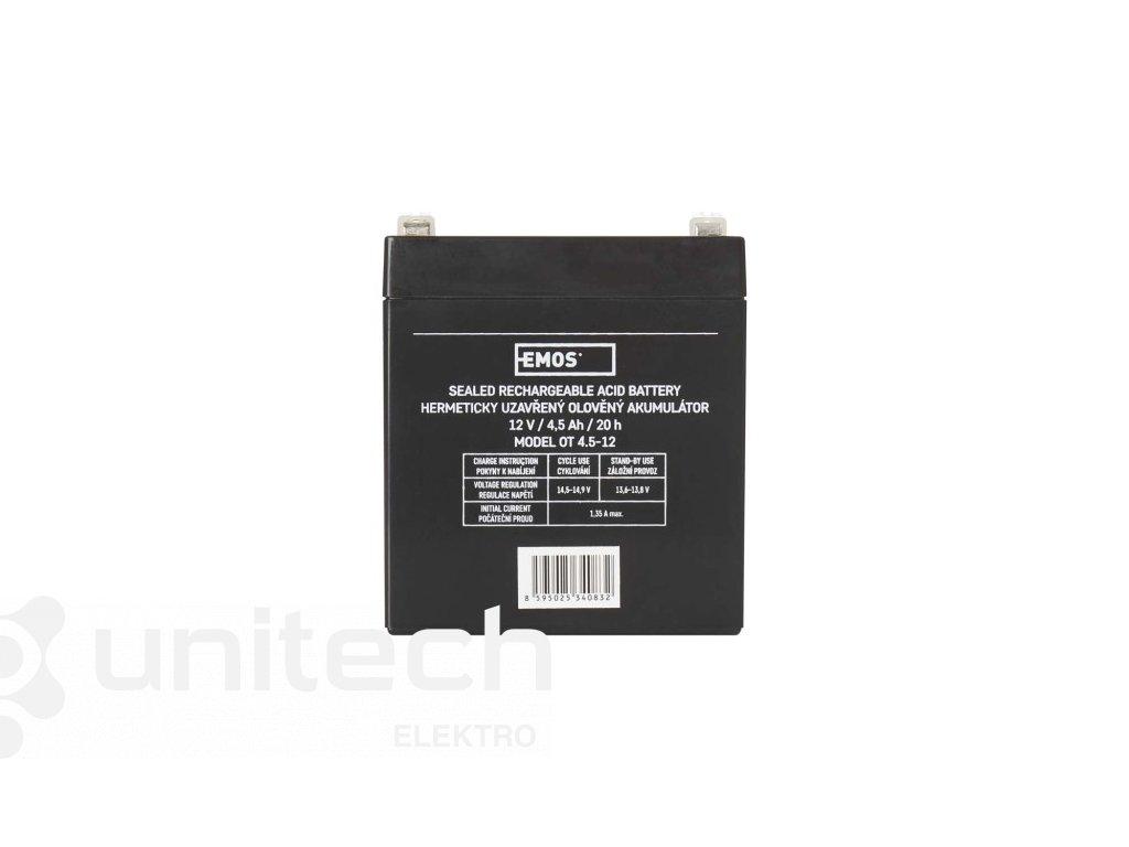 Bezúdržbový olovený akumulátor 12 V/4,5 Ah, faston 4,7 mm