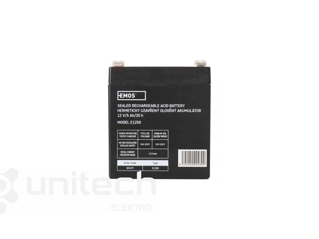Bezúdržbový olovený akumulátor 12 V/5Ah, faston 6,3 mm