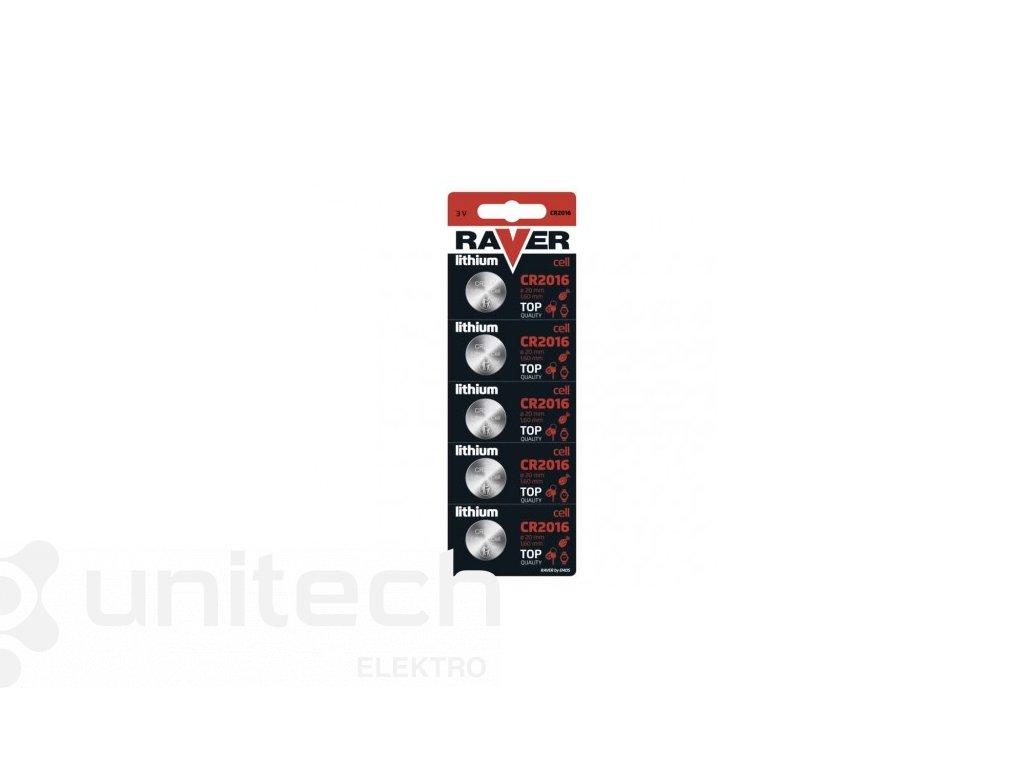 Lítiová gombíková batéria RAVER CR2016
