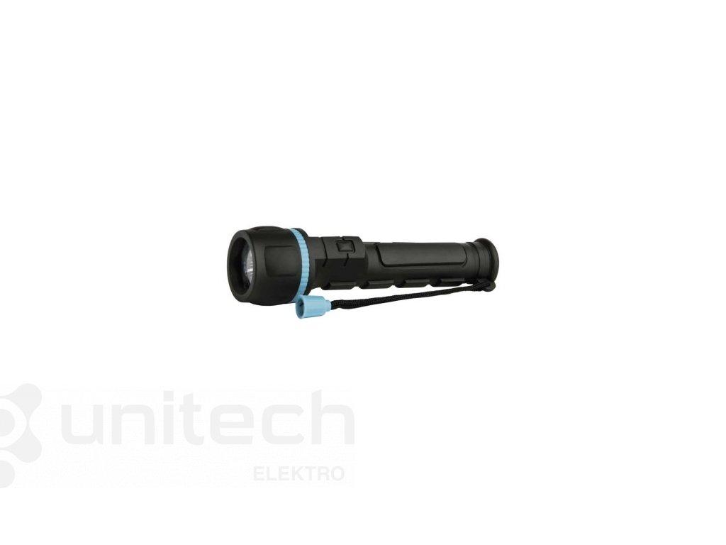 LED ručné gumové svietidlo P3861, 20 lm, 2× AA