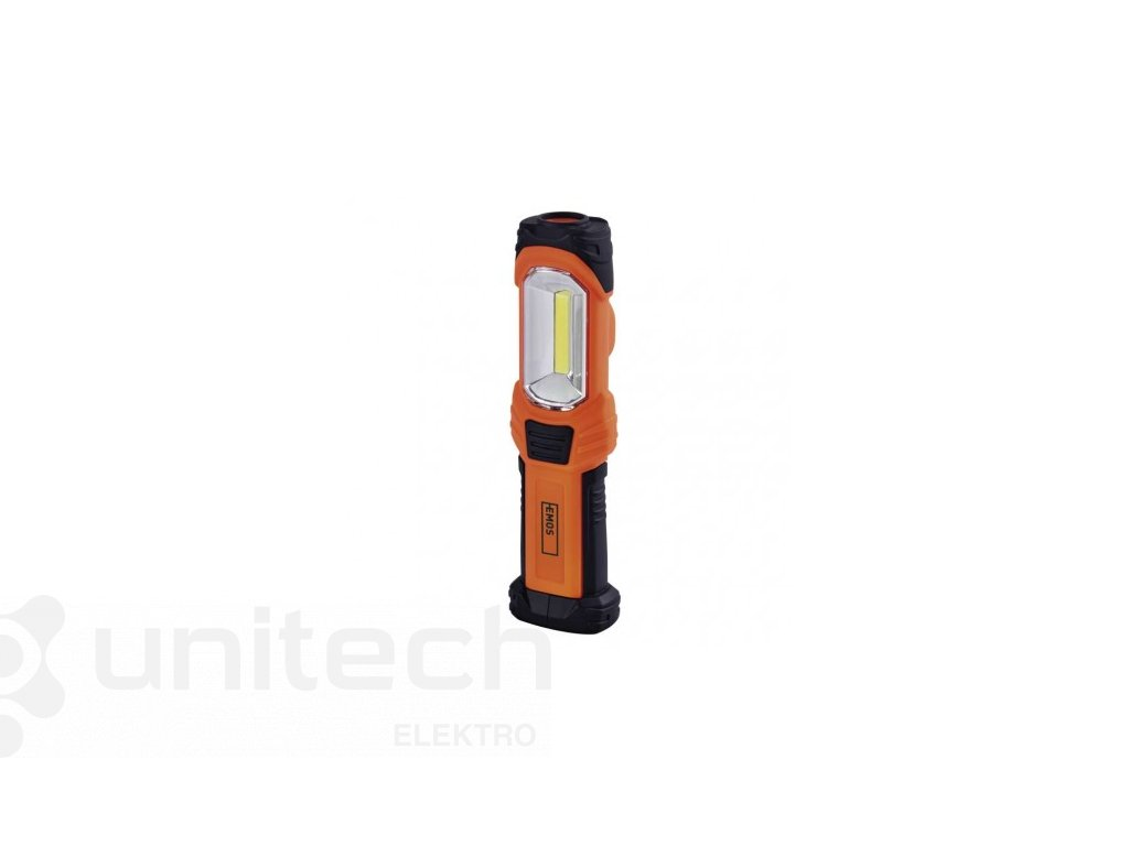 COB LED + LED pracovné svietidlo P4111, 350 lm, 3× AA