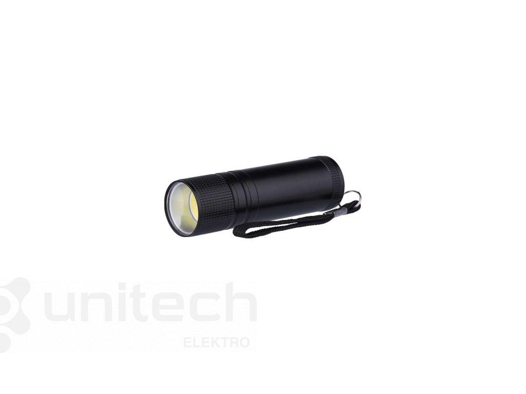 COB LED ručné kovové svietidlo P3894, 100 lm, 3× AAA