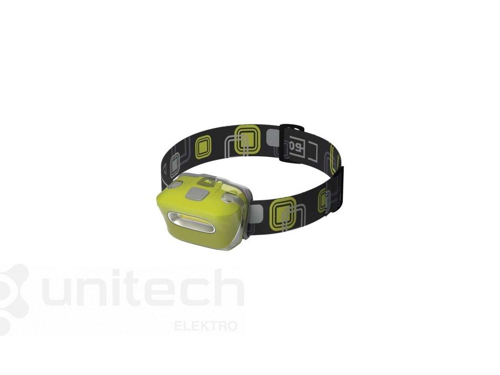 COB LED čelovka P3528, 150 lm, 20 m, 3× AAA