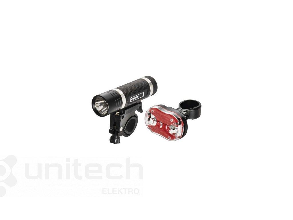 LED predné + zadné sviet. na bicykel P3920 na 5× AAA, 150 lm