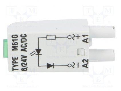 Modul signalizačný  M61G RELPOL 6-24V ACDC , ZELENÝ