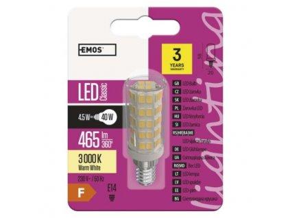 LED žiarovka Classic JC A++ 4,5W E14 teplá biela