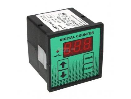 Elektronické počítadlo impulzov NET03A s procesorom, 3-miestny s relé, 12V DC