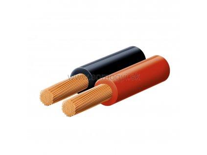 Reprokábel, červeno-čierny, 2x0,5mm, KL0.5, 100m balenie