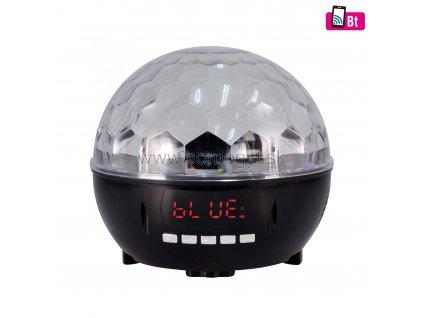 Disko lampa, prehrávač hudby, rádio, Bluetooth, 6xLED, DL6BT