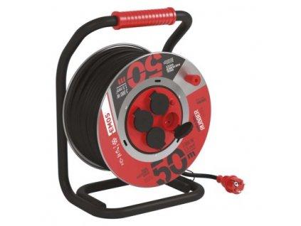 Guma-guma predlž. kábel, bubon kovový – 4z, 50m, 1,5mm2